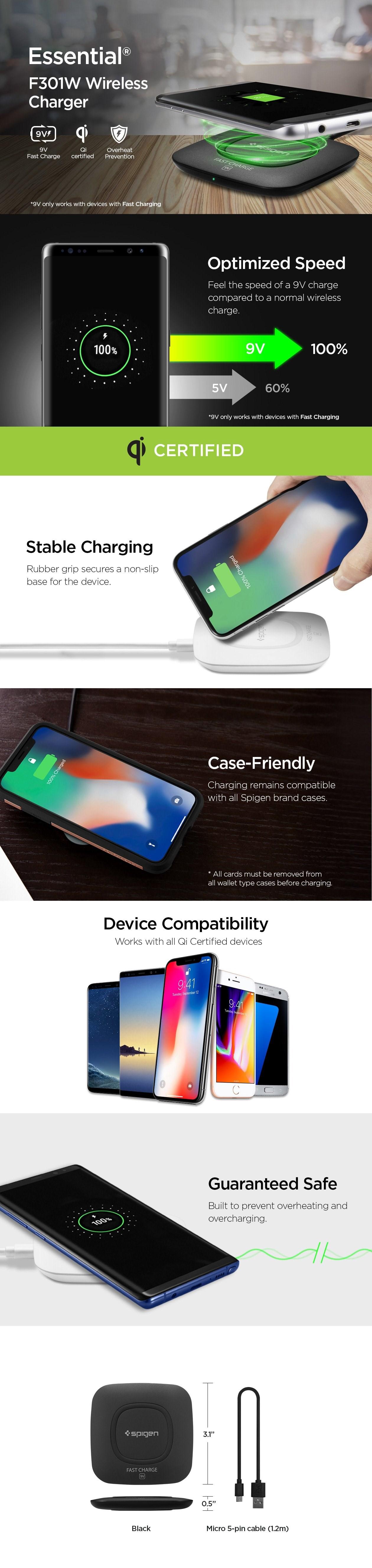 SPIGEN - F301W Wireless Charger Case Compatible White (000CH22588)