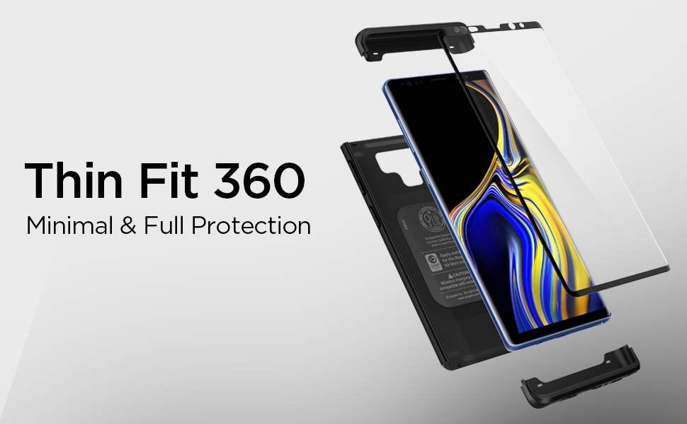 SPIGEN - Samsung Galaxy Note 9 Case Thin Fit 360, Black (599CS24581)
