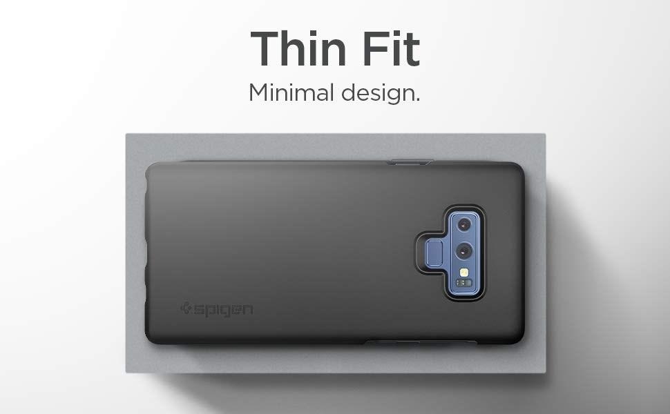 SPIGEN - Samsung Galaxy Note 9 Case Thin Fit, Black (599CS24566)