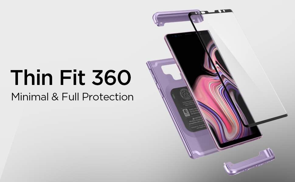 SPIGEN - Samsung Galaxy Note 9 Case Thin Fit 360, Lavender (599CS24595)
