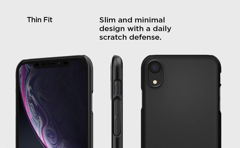 SPIGEN - iPhone XR Case Thin Fit, Black (064CS24864)