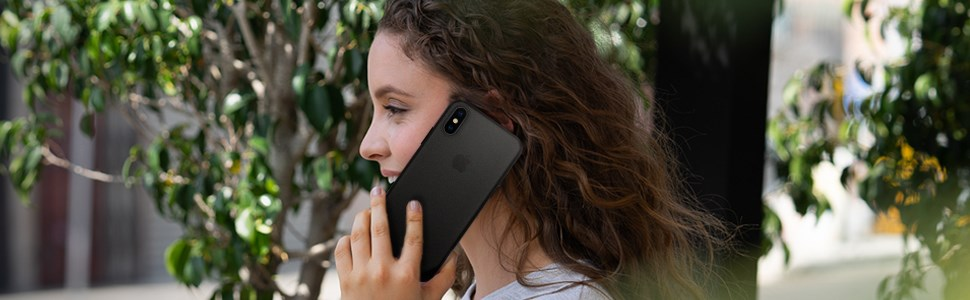 SPIGEN - Apple iPhone X/XS Case Airskin, Black (063CS24910)