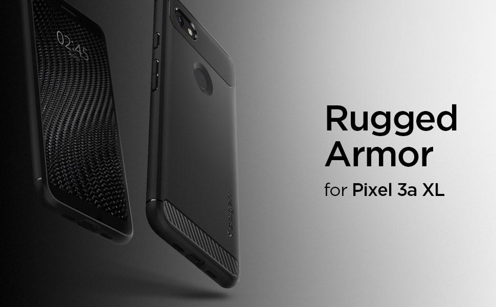 SPIGEN - Google Pixel 3A XL Case Rugged Armor Black (F22CS25957)