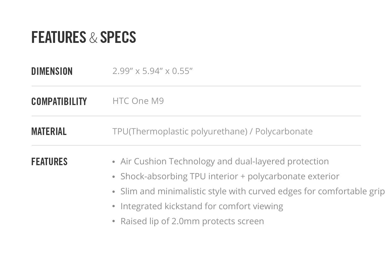 SPIGEN - Slim Armor HTC One M9, Metal Slate (SGP11387)