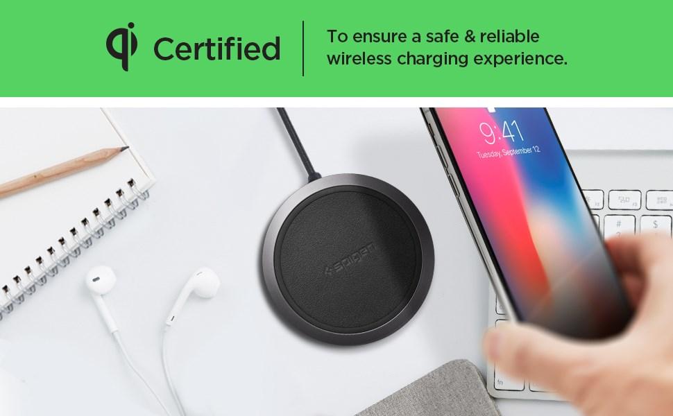SPIGEN - Essential® F308W iPhone Wireless Charger Black (000CH23122)