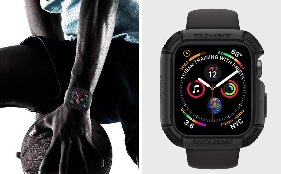 SPIGEN - Apple Watch Series 4 (44mm) Case Tought Armor - Black (062CS24477)