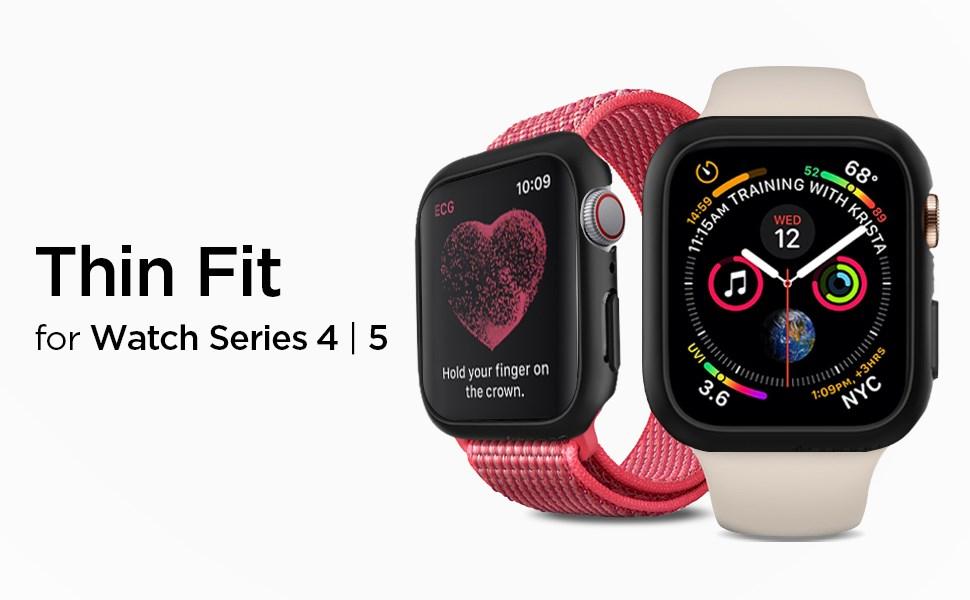 SPIGEN - Apple Watch Series 4 (44mm) Case Thin Fit, Black (062CS24474)