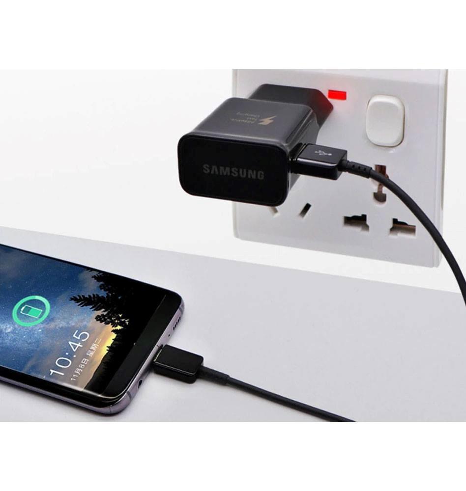Samsung - Fast Charging Travel Power Adapter USB-C, Black (EP-TA20CBCQGCH)