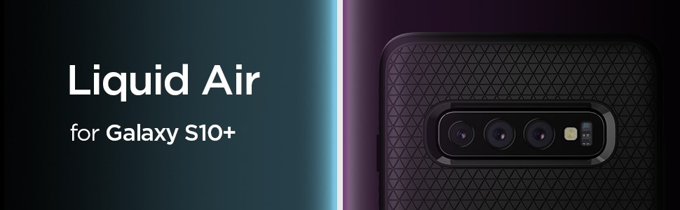SPIGEN - Samsung Galaxy S10+ Case Liquid Air Matte Black (606CS25764)