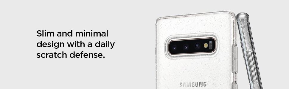 SPIGEN - Samsung Galaxy S10 Case Liquid Crystal, Glitter Crystal (605CS25797)