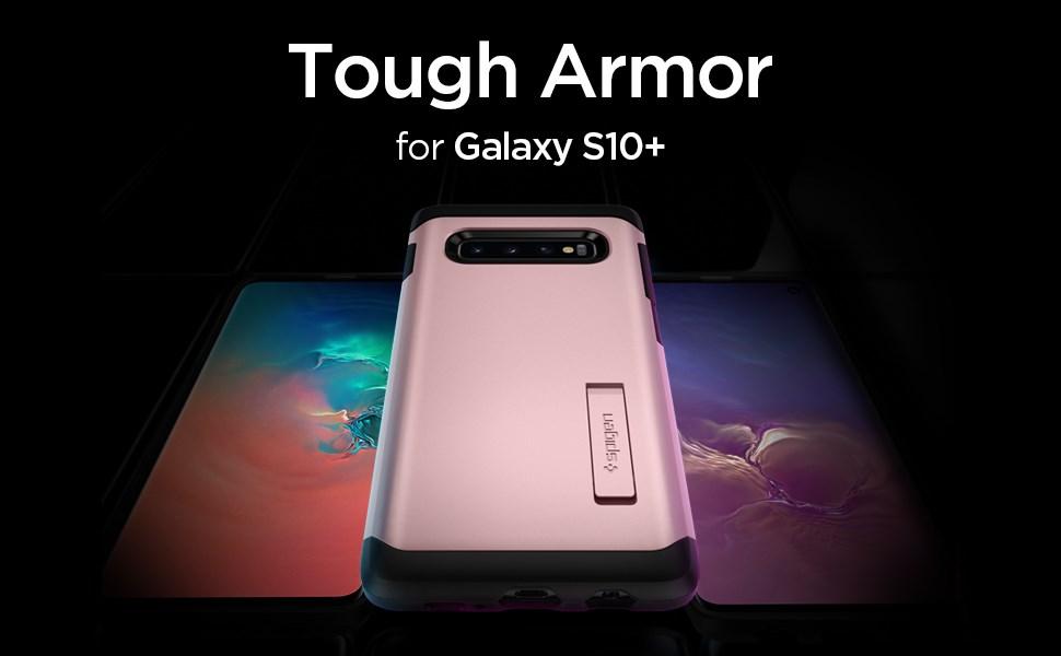 SPIGEN - Samsung Galaxy S10+ Case Tough Armor, Rose Gold (606CS25772)