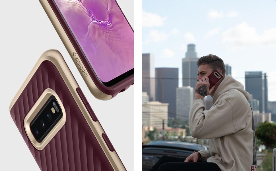 SPIGEN - Samsung Galaxy S10 Plus Case Neo Hybrid, Burgundy (606CS25775)