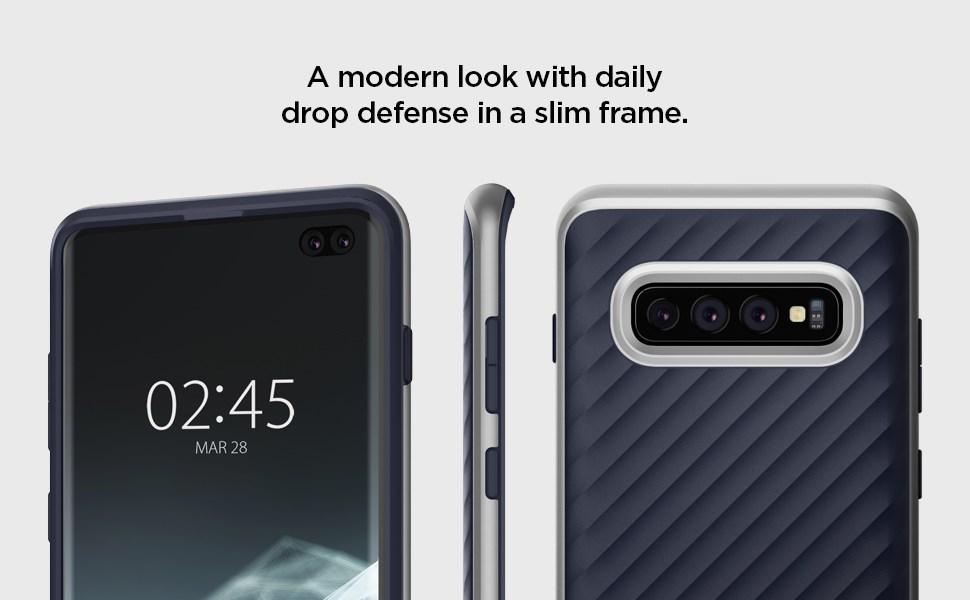 SPIGEN - Samsung Galaxy S10 Plus Case Neo Hybrid, Arctic Silver (606CS25776)