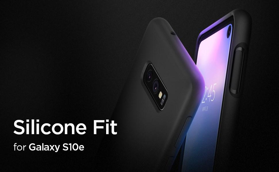 SPIGEN Galaxy S10e Case Silicone Fit, Black (609CS25854)