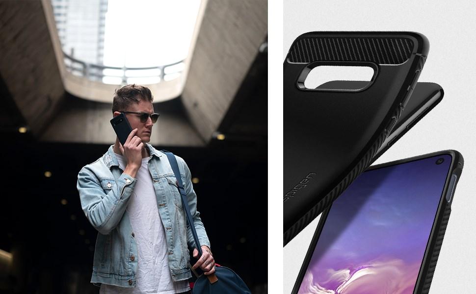 SPIGEN - Samsung Galaxy S10e Case Rugged Armor, Matte Black (609CS25837)