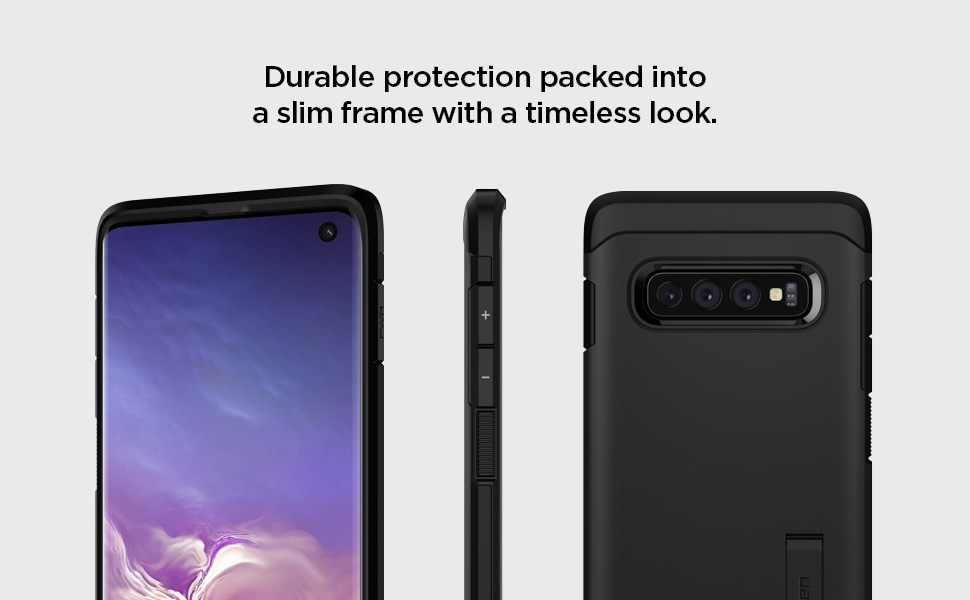 SPIGEN - Samsung Galaxy S10 Case Tough Armor, Black (605CS25805)