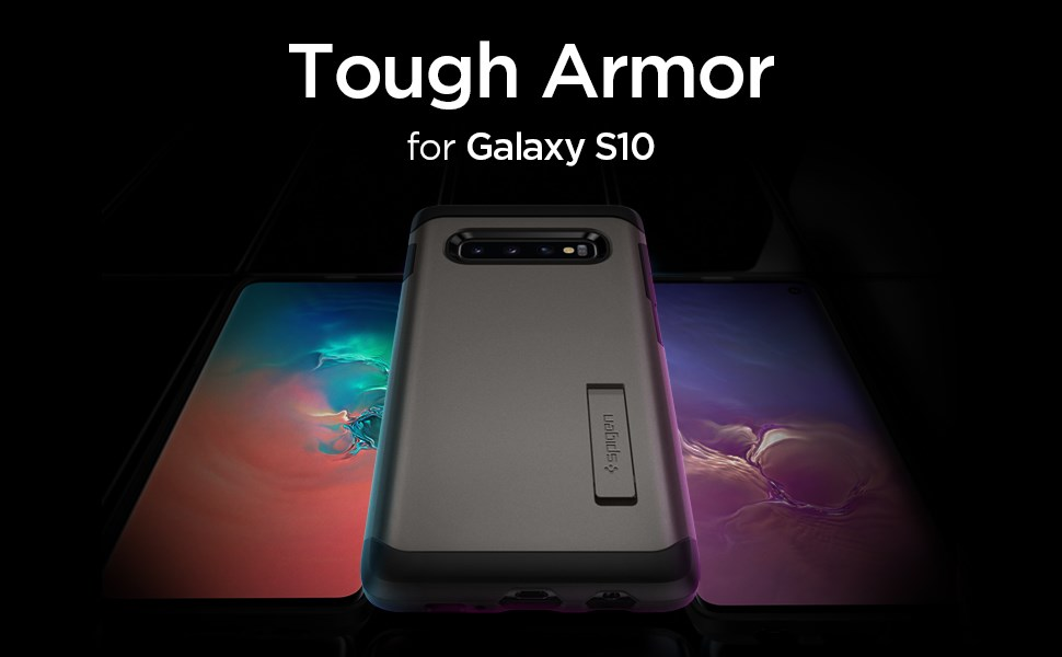 SPIGEN - Samsung Galaxy S10 Case Tough Armor, Gunmetal (605CS25804)
