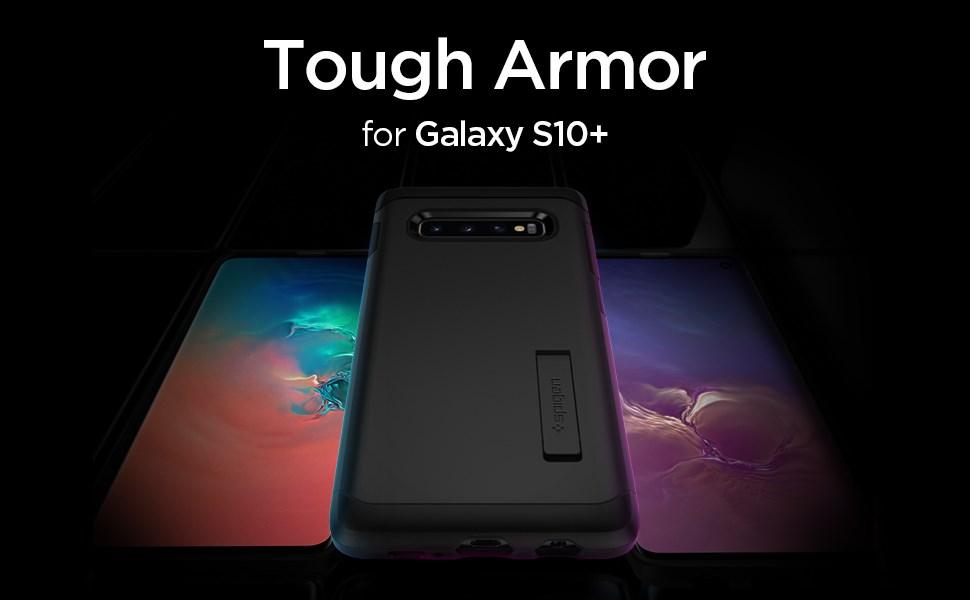 SPIGEN - Samsung Galaxy S10+ Case Tough Armor, Black (606CS25770)