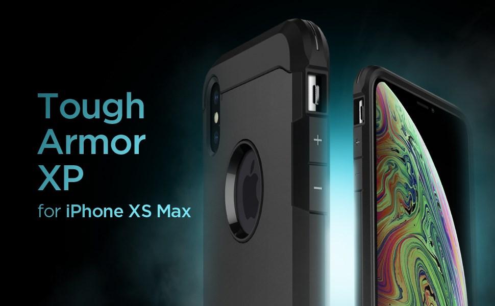 """SPIGEN - Apple iPhone XS Max Case Tough Armor """"XP"""", Black (065CS25625)"""