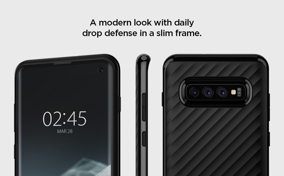 SPIGEN - Samsung Galaxy S10 Case Core Armor, Midnight Black (605CS25808)
