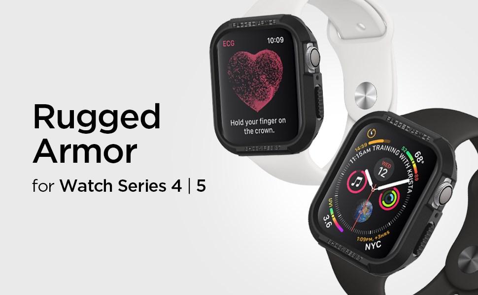 SPIGEN - Apple Watch Series 4 (44mm) Case Rugged Armor, Black (062CS24469)
