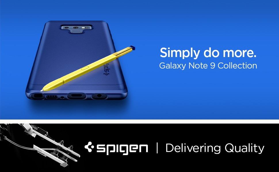 SPIGEN - Samsung Galaxy Note 9 Case Thin Fit 360, Ocean Blue (599CS25053)