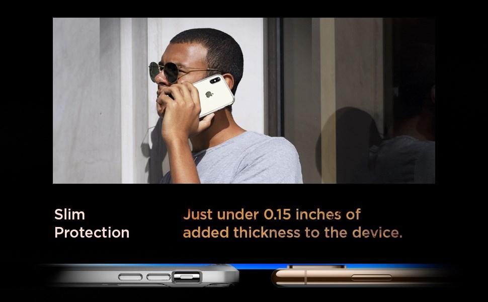 SPIGEN - iPhone XS Max Case Neo Hybrid Crystal, Satin Silver (065CS24845)