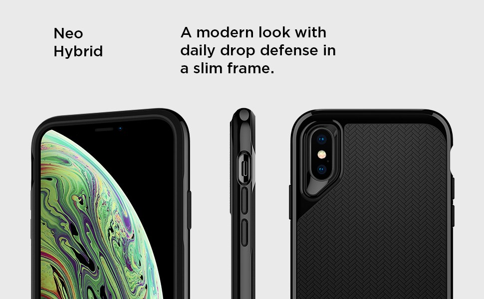 SPIGEN - iPhone XS Max Case Neo Hybrid, Satin Silver (065CS24840)