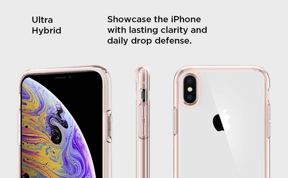 SPIGEN - iPhone XS Max Case Ultra Hybrid, Rose Crystal (065CS25129)