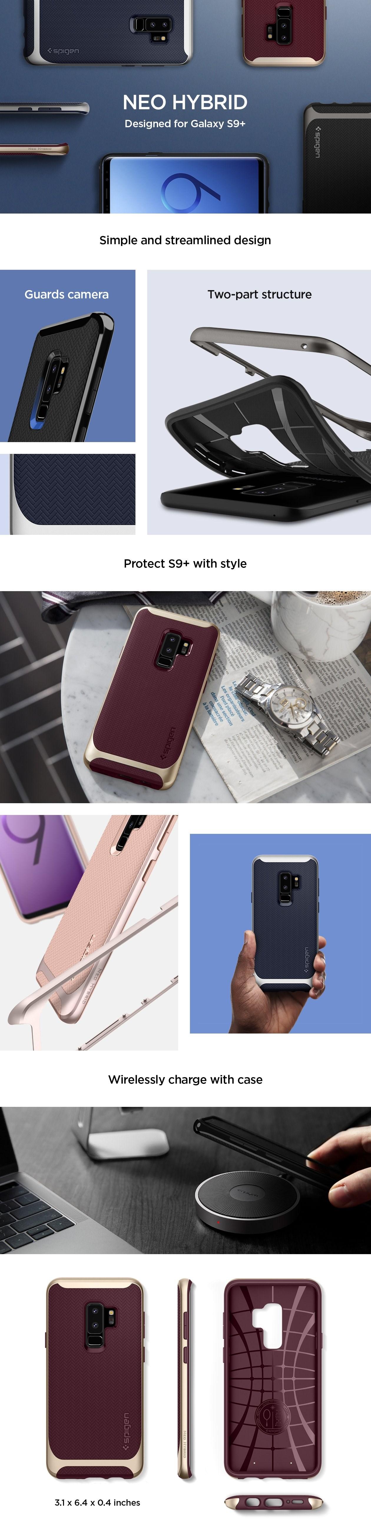 SPIGEN - Samsung Galaxy S9 Plus Case Neo Hybrid Shiny Black (593CS22942)