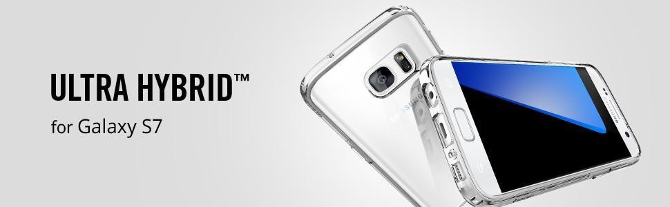 SPIGEN Samsung Galaxy S7 Case Ultra Hybrid Crystal Clear (555CS20008)