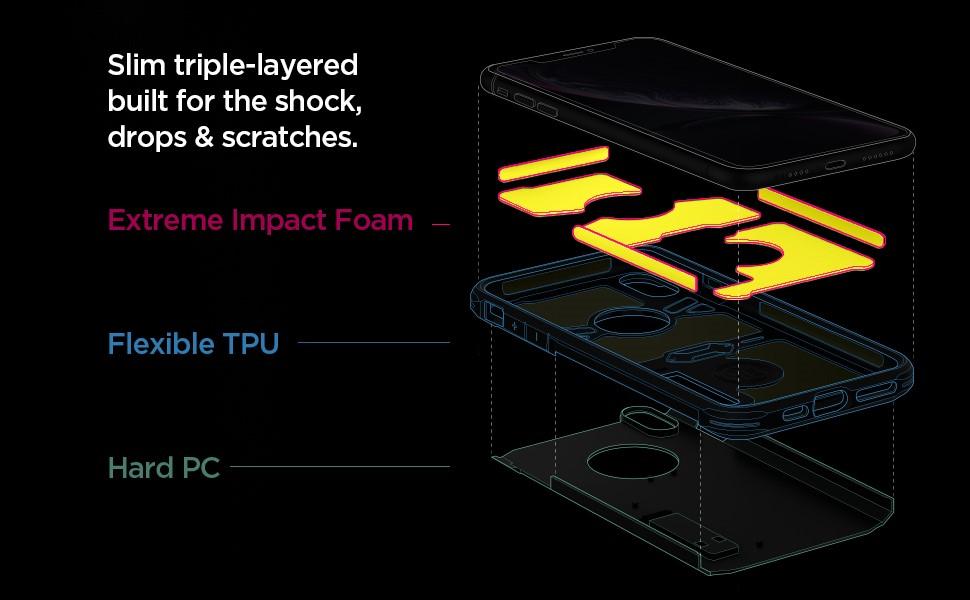 """SPIGEN - Apple iPhone XR Case Tough Armor """"XP"""" Black (064CS25624)"""