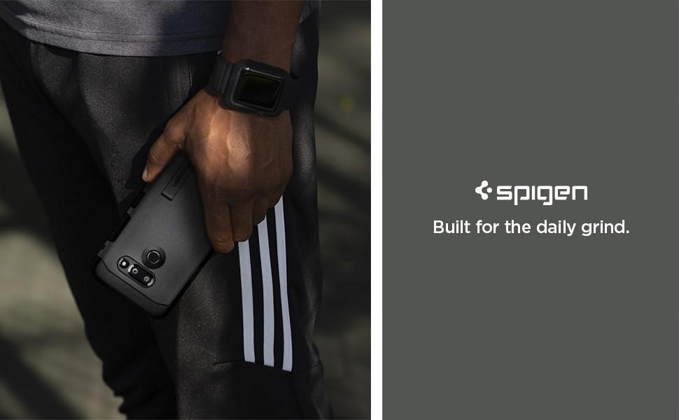 SPIGEN - LG G8 Thinq Case Tough Armor, Black (A32CS25980)