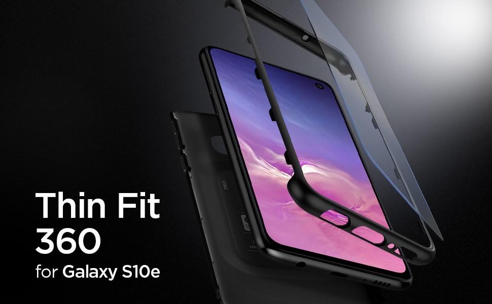 SPIGEN - Samsung Galaxy S10e Case Thin Fit 360, Black (609CS25831)