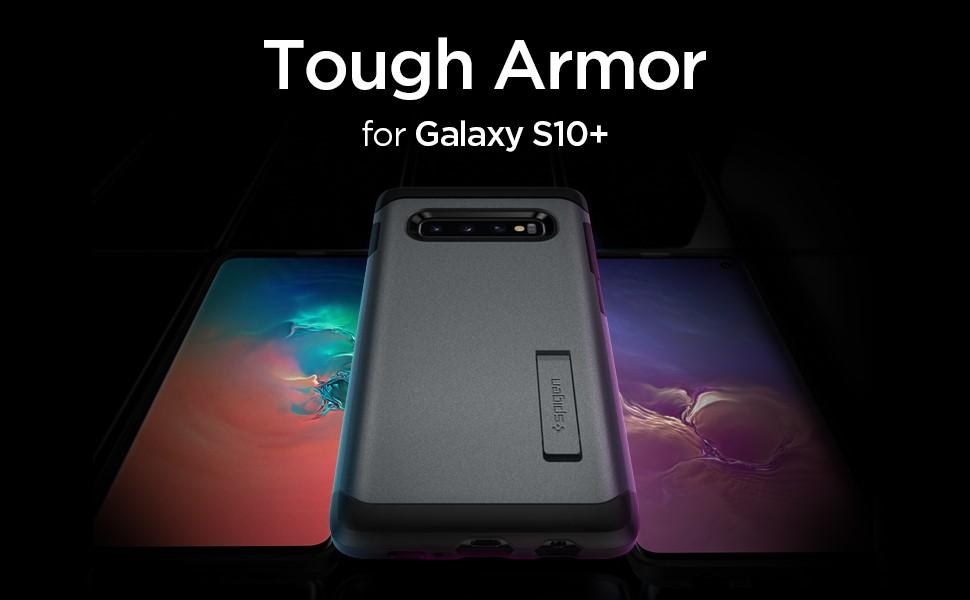 SPIGEN - Samsung Galaxy S10+ Case Tough Armor, Graphite Grey (606CS25771)