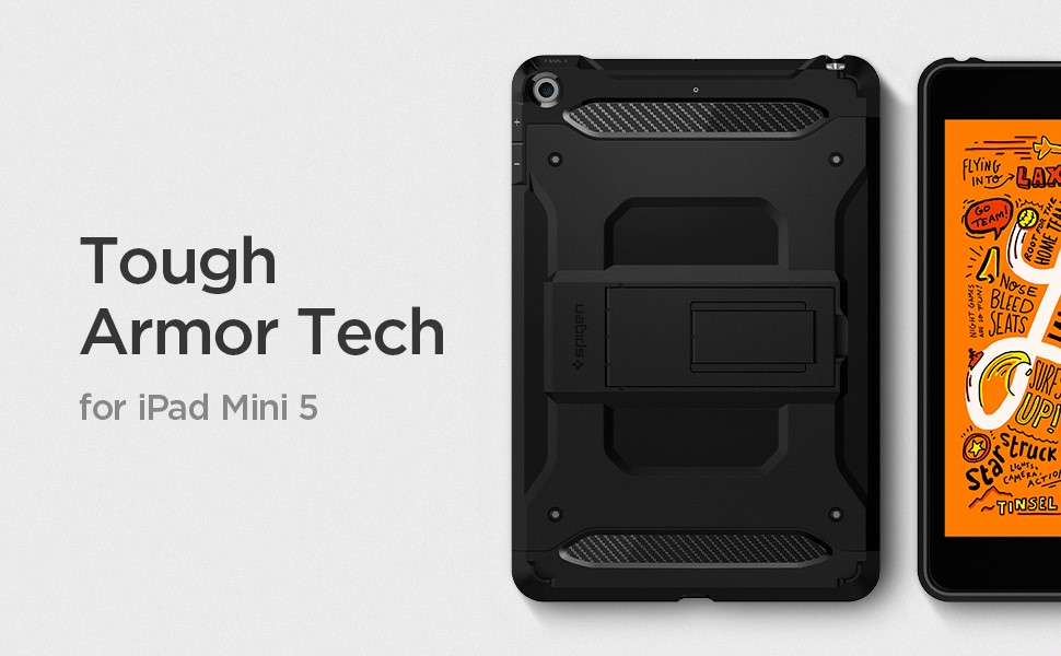 SPIGEN - Apple iPad Mini 5 2019 Tough Armor Tech - Black (051CS26114)