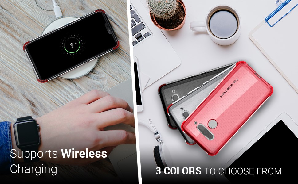 Ghostek - LG V50 Case, Covert 3 Series, Clear (GHOCAS2160)