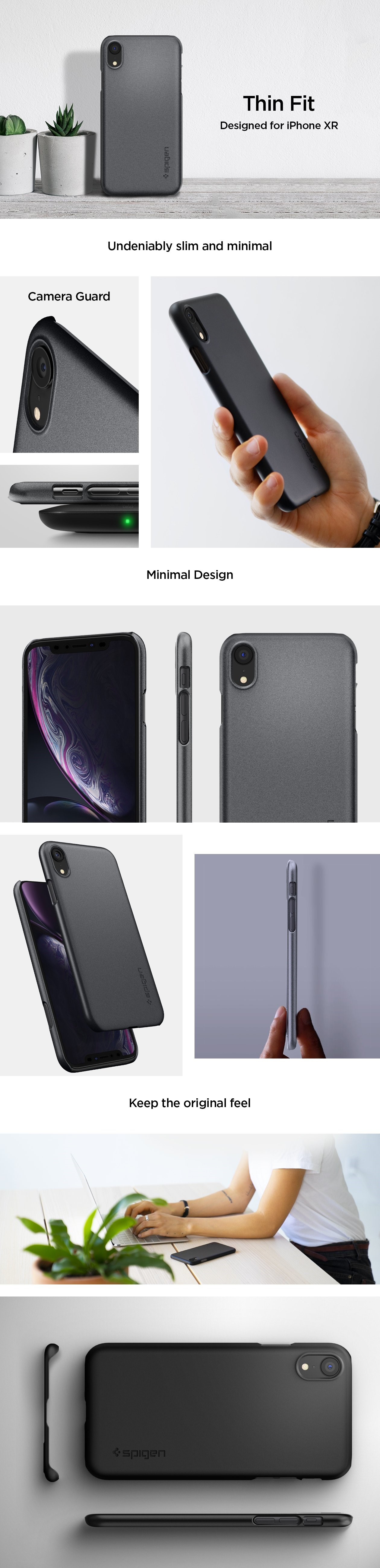 SPIGEN Silicone Fit Iphone XR Graphite Gray (064CS24865)