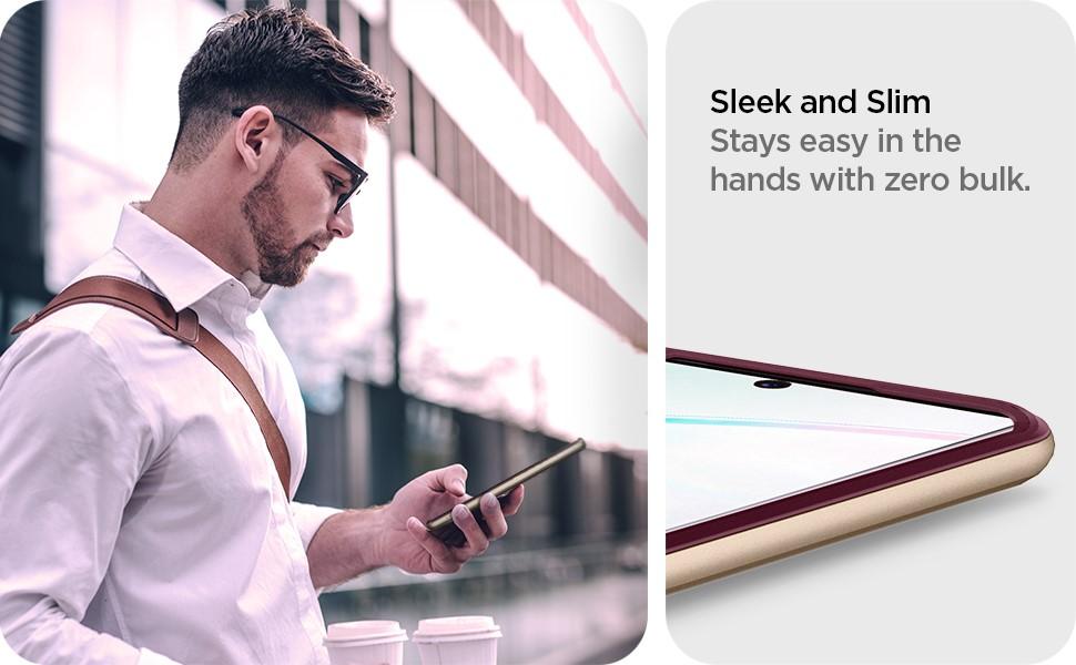 SPIGEN - Neo Hybrid, Samsung Galaxy Note 10, Burgundy (628CS27383)
