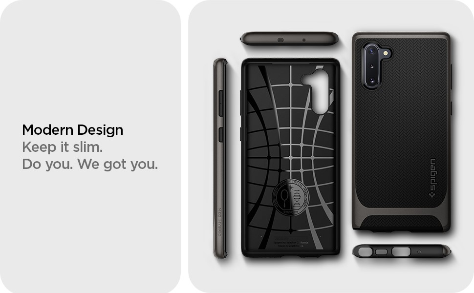 SPIGEN - Neo Hybrid, Samsung Galaxy Note 10, Gunmetal (628CS27382)
