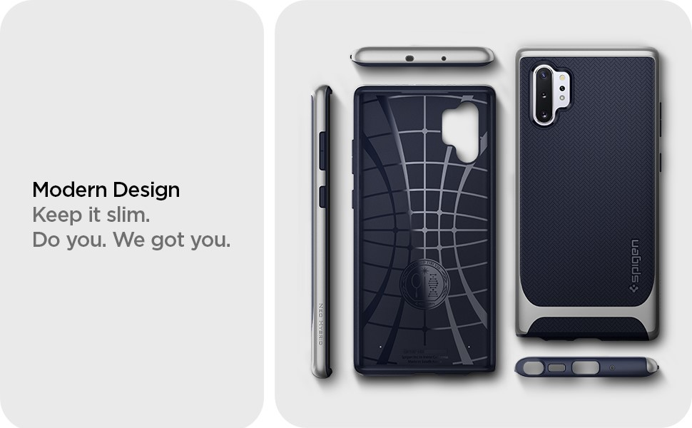 SPIGEN - Neo Hybrid, Samsung Galaxy Note 10+, Arctic Silver (627CS27341)