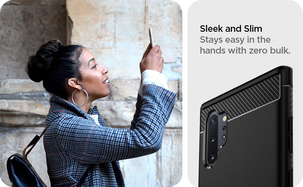 SPIGEN - Rugged Armor, Samsung Galaxy Note 10+, Matte Black (627CS27331)