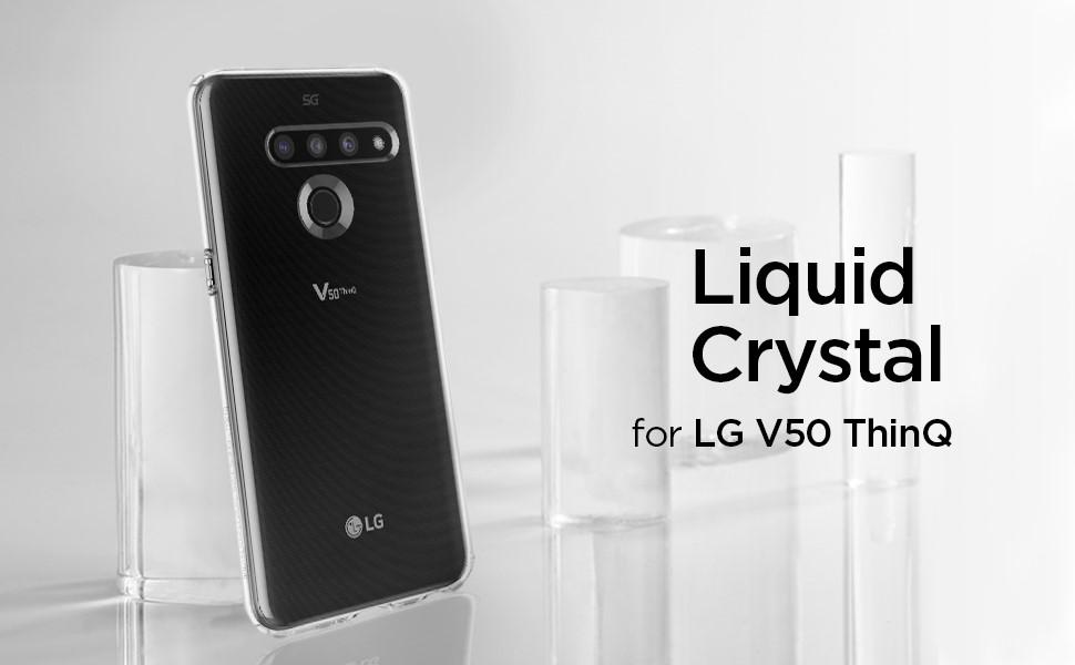SPIGEN LIQUID CRYSTAL LG V50 THINQ CRYSTAL CLEAR (A33CS26142)
