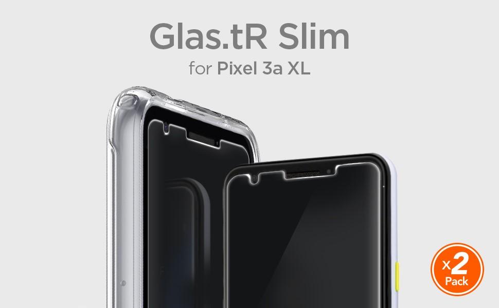 SPIGEN - Google Pixel 3A XL Screen Protector GLAS.tR Slim Glass 2 pack (F22GL26443)
