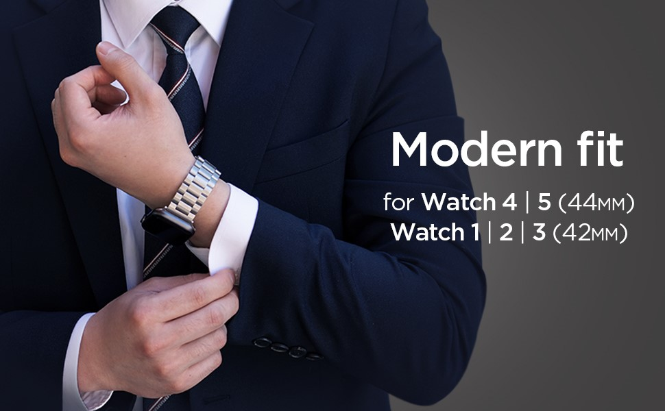 SPIGEN MODERN FIT BAND APPLE WATCH 1/2/3/4 (42/44MM) SILVER(062MP25404)