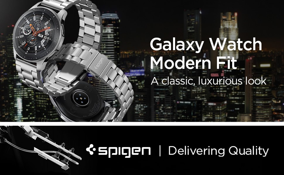 SPIGEN MODERN FIT BAND SAMSUNG GALAXY WATCH (46MM) SILVER (600WB24981)