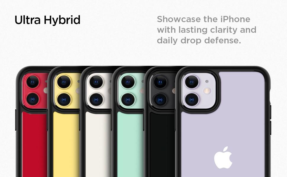 SPIGEN - iPhone 11 Case Ultra Hybrid, Matte Black (076CS27186)