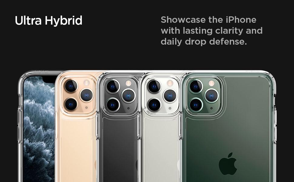 SPIGEN - iPhone 11 Pro Case Ultra Hybrid, Crystal Clear (077CS27233)