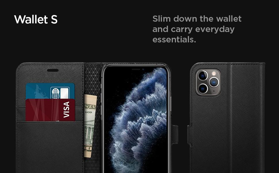 SPIGEN - iPhone 11 Pro Case Wallet S - Black (077CS27247)