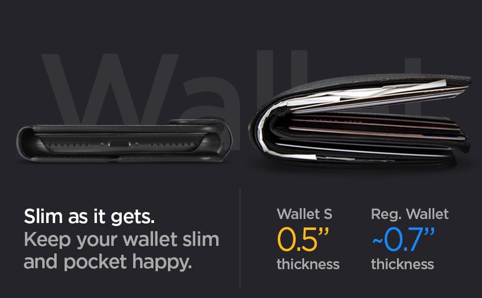 SPIGEN - iPhone 11 Pro Max Case Wallet S - Black (075CS27149)